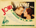 "Movie Posters:Western, Somewhere in Sonora (Vitagraph, 1933). Title Lobby Card (11"" X14""). ..."