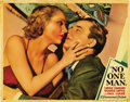 "Movie Posters:Drama, No One Man (Paramount, 1932). Lobby Card (11"" X 14""). ..."