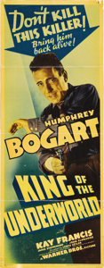 "Movie Posters:Crime, King of the Underworld (Warner Brothers, 1939). Insert (14"" X 36"")...."