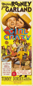 "Movie Posters:Musical, Girl Crazy (MGM, 1943). Insert (14"" X 36""). ..."