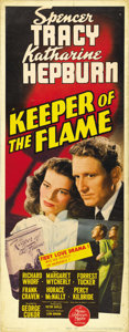 "Movie Posters:Drama, Keeper of the Flame (MGM, 1942). Insert (14"" X 36""). ..."