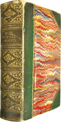 Books:First Editions, Charles Dickens: Our Mutual Friend (London: Chapman andHall, 1865), first edition, two volumes bound in one, 629 pages ...(Total: 1 Item)