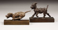 Sculpture, Running Terrier Bookends. . Edith Barretto Stevens Parsons, American (1878-1956). Bronze with brown patina. 7.75 inches in l... (Total: 2 Items)