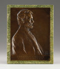 Sculpture, Abraham Lincoln. Victor David Brenner, American (1871-1924). 1907. Bronze with brown patination. Incised with artist's...