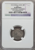 Bust Dimes, 1814 10C Small Date, JR-1, R.3, -- Improperly Cleaned -- NGCDetails. XF. Ex: Hilt Collection. NGC Census: (1/28). PCGS Po...