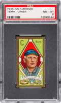 Baseball Cards:Singles (Pre-1930), 1911 T205 Hassan Terry Turner PSA NM-MT 8 - Pop Two, None Higher. ...