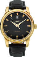 Timepieces:Wristwatch, Longines Heritage Collection Large Gold Conquest Automatic. ...