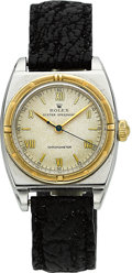 Timepieces:Wristwatch, Rolex Ref. 3359 Two Tone Viceroy, circa 1940's. ...