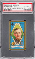 Baseball Cards:Singles (Pre-1930), 1911 T205 Piedmont Bobby Wallace/No Cap, Two 1910 Stats PSA EX-MT+6.5 - The Finest Graded Example. ...