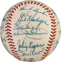 Autographs:Baseballs, 1957 National League All-Stars Team Signed Baseball....