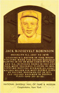 Baseball Collectibles:Others, 1967 Jackie Robinson Twice Signed Hall of Fame Postcard. ...