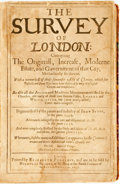 Books:World History, John Stow. The Survey of London: Contayning The Originall,Increase, Modern Estate, and Government of that City......