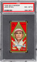 Baseball Cards:Singles (Pre-1930), 1911 T205 Sweet Caporal Jake Stahl PSA NM-MT 8 - The Highest GradedExample! ...