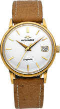 Timepieces:Wristwatch, Movado Kingmatic Sub-Sea 18k Yellow Gold . ...