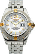 Timepieces:Wristwatch, Breitling Ref. A49350 Steel Automatic Chronometer WithMother-Of-Pearl Dial. ...