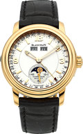 Timepieces:Wristwatch, Blancpain Very Fine Limited Edition Pink Gold Automatic Moon PhaseCalendar. ...