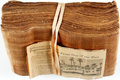 """Books:Furniture & Accessories, Large Lot of Papyrus Paper. [N.p., n.d.] Includes a Los AngelesTimes article titled """"Papyrus-A Page from Out of the Past"""" d..."""