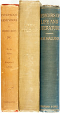 Books:Biography & Memoir, [Memoir and Biography]. Group of Three Books. Various publishers and dates. ... (Total: 3 Items)