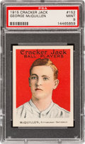 Baseball Cards:Singles (Pre-1930), 1915 Cracker Jack George McQuillen #152 PSA Mint 9 - Pop Three,None Higher....