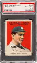 Baseball Cards:Singles (Pre-1930), 1915 Cracker Jack Jean Dubuc #156 PSA NM-MT+ 8.5 - Pop Two, NoneHigher....