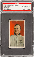 Baseball Cards:Singles (Pre-1930), 1910 T213 Coupon Cigarettes Ty Cobb PSA Authentic. ...