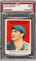 Baseball Cards:Singles (Pre-1930), 1915 Cracker Jack Dick Rudolph #154 PSA Mint 9....