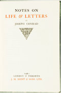 Books:Biography & Memoir, Joseph Conrad. Notes on Life & Letters. London: J. M. Dent, 1921. ...