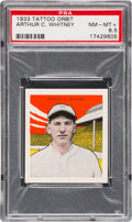 Baseball Cards:Singles (1930-1939), 1933 R305 Tattoo Orbit Arthur Whitney PSA NM-MT+ 8.5 - HighestGraded Example! ...