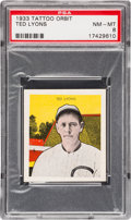 Baseball Cards:Singles (1930-1939), 1933 R305 Tattoo Orbit Ted Lyons PSA NM-MT 8 - Pop Two, None Higher. ...