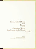 Books:Medicine, Violet M. Baird. LIMITED. Texas Medical History in the Libraryof the University of Texas Southwestern Medical School....