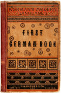 Books:Non-fiction, James H. Worman. First German Book After the Natural or Pestalozzian Method for Schools and Home Instruction. Ne...