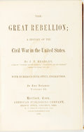 Books:Americana & American History, J. T. Headley. The Great Rebellion; A History of the Civil Warin the United States. Hartford: American Publishi...
