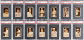 Baseball Cards:Sets, 1912 T207 Brown Background PSA Graded Collection (34) With ScarceSubjects, Anonymous & Broadleaf Backs. ...