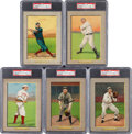 Baseball Cards:Lots, 1910-11 T3 Turkey Red Cabinet Cards PSA Graded Collection (5). ...