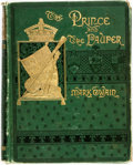 Books:Literature Pre-1900, Mark Twain. The Prince and the Pauper a Tale for Young People of All Ages. Boston: James R. Osgood, 1882. First edit...