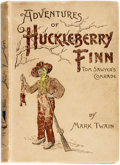Books:Literature Pre-1900, Mark Twain. Adventures of Huckleberry Finn (Tom Sawyer'sComrade). New York: Charles L. Webster & Co., 1893. Earlyr...