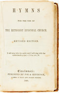 Books:Religion & Theology, [Religion & Theology.] Hymns for the Use of the Methodist Episcopal Church. Cincinnati: Poe & Hitchcock, 1866. S...