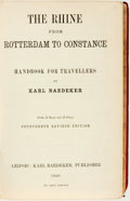 Books:Travels & Voyages, Karl Baedeker. The Rhine from Rotterdam to Constance. Handbook for Travellers by Karl Baedeker. With 45 Maps and 25 Plan...