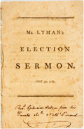 Books:Religion & Theology, Joseph Lyman. A Sermon, Preached Before His Excellency James Bowdoin, Esq. Governour... and the Honourable Senate, and t...