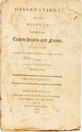 Books:Americana & American History, Robert Goodloe Harper. Observations on the Dispute Between theUnited States and France, Addressed by... of South Caroli...