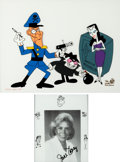 Animation Art:Limited Edition Cel, The Bullwinkle Show Fearless Leader, Boris and NatashaLimited Edition Cel and June Foray Signed Photo (Jay Ward Produ...