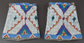 American Indian Art:Beadwork and Quillwork, A PAIR OF SIOUX BEADED HIDE CUFFS... (Total: 2 Items)