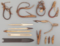American Indian Art:Pipes, Tools, and Weapons, FOURTEEN ESKIMO FISHING ITEMS... (Total: 14 Items)