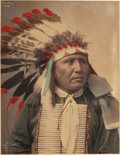 American Indian Art:Photographs, FIVE HAND-COLORED PHOTOGRAPHS - SIOUX CHIEFS. c. 1899... (Total: 5)