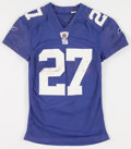 Football Collectibles:Uniforms, 2010 Brandon Jacobs Game Worn, Unwashed New York Giants Jersey - NFL Auction LOA....