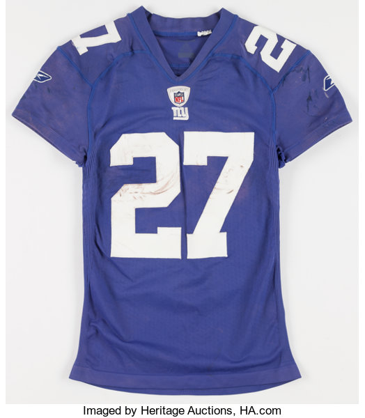 super popular 61c0a fd697 2010 Brandon Jacobs Game Worn, Unwashed New York Giants ...