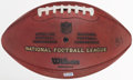 Football Collectibles:Balls, 2010 Raiders Vs. 49ers Game Used Football - Used 10/17, NFL Auction....