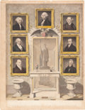 Political:Small Paper (pre-1896), Andrew Jackson. A Rare Hand-colored Engraving of the Presidents Up Through Jackson....