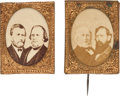 Political:Ferrotypes / Photo Badges (pre-1896), Grant & Wilson and Greeley & Brown: Pair of Gem AlbumenJugates.... (Total: 2 Items)