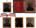 Political:Ferrotypes / Photo Badges (pre-1896), Horace Greeley et al: Five Abbott Tintypes.... (Total: 5 Items)